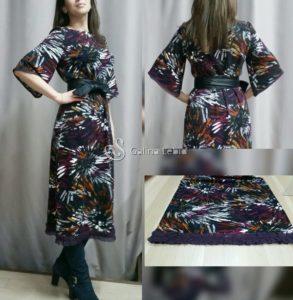 Платье прямого кроя из трикотажа
